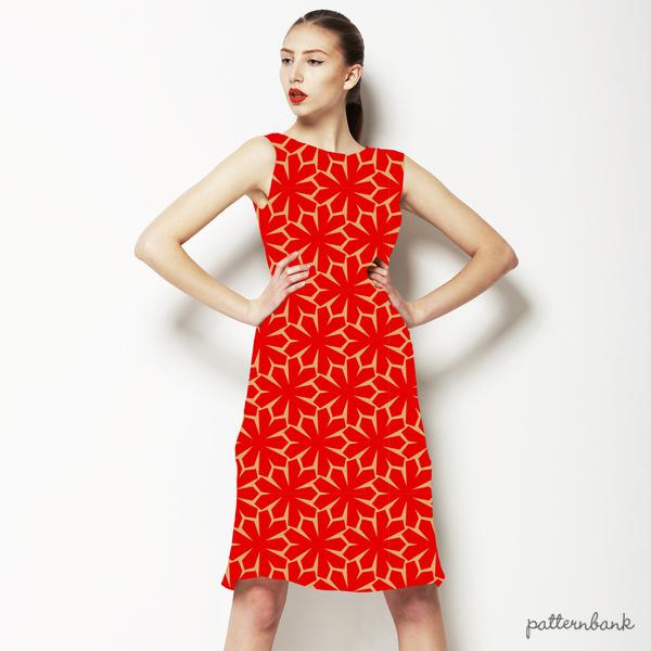 Oriental Style Geometric Print