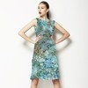 Abstract Flower Pattern Scarf (Dress)