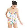 Abstract Floral White (Swimsuit)