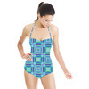 Pencil Plaid Seaside (Swimsuit)