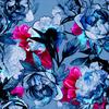 Blue Floral (Original)