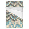 Ikat Lined Chevron With Faux Embroidery (Bed)