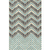 Ikat Lined Chevron With Faux Embroidery (Original)