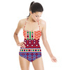 Geometric Border (Swimsuit)
