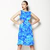 Blue Porcelain Chrysanthemums. (Dress)