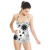 Floral Pattern in Black and White (Swimsuit)