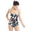 Tropical Leaves Black Silhouettes (Swimsuit)
