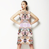 Soft Abstract Flowers Pastel Rococo (Dress)