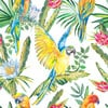 Parrots and Exotic Flowers Pattern (Original)