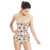 Yellow White Petals and Foliage (Swimsuit)