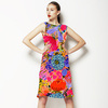 Clashing Print Combos Bohemian Abstract Flowers (Dress)