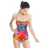 Clashing Print Combos Bohemian Abstract Flowers (Swimsuit)