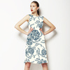 Floral Vector Roses in Blue (Dress)