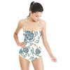 Floral Vector Roses in Blue (Swimsuit)