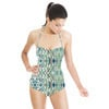 Hand Drawn Abstract Tribal Green (Swimsuit)
