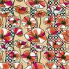 Retro Flowers (Bpt0664) (Original)