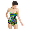 Colorful Camouflage Disco Party 60s 70s 80s Background 3 (Swimsuit)