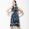 Dark Seamless Artistic Paisley Pattern (Dress)