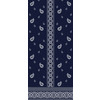 Blue and White Repeat and Border Paisley (Original)