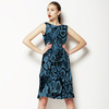 Mixed Texture Leopard Snake Skin (Dress)