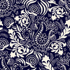 Paisley Pattern. Seamless Indian Pattern in Two Colors (Original)