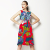 Red Flowers Pattern. Bright Floral Pattern (Dress)