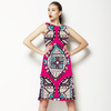 Pink Ethnic Seamless Pattern. African Pattern (Dress)