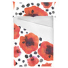 Hand Painted Watercolor Graphic Poppies With Brush Dotts (Bed)