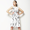 Marble Watercolor Grey Monochrome Ikat (Dress)