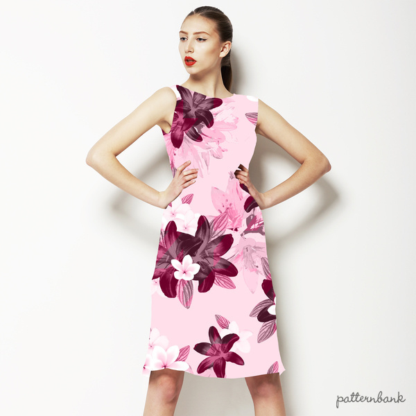 Berry Pinks Lily Blossom Floral