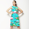Tropical Flamingo and Lily Pad Water Print (Dress)