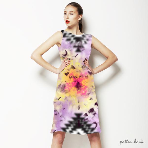 Tie Dye Boho Batik Print