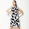 Watercolor Spots Black and White (Dress)