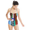 Abstract Painting Mirrored Colorful Marker (Swimsuit)