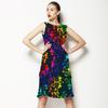 Floral Abstrato Dark (Dress)