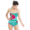 Colorful Seamless Pattern Witn Decorative Fishes (Swimsuit)
