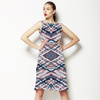 Pastel Tartan Abstract Plaid on White (Dress)