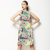 Crazy Colorful Pastel Triangle Pattern (Dress)