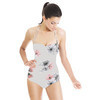 Photoreal Vector X-Ray Floral Square Repeat (Swimsuit)