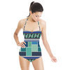 Ethnic Patchwork Geometric Repeating Border Stripe (Swimsuit)