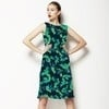 Blue Green Abstract Painterly Naive Floral (Dress)