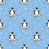 Arctic Penguins Dancing in the Snow (Original)