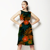 Dark Tropical Pattern. (Dress)