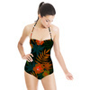 Dark Tropical Pattern. (Swimsuit)