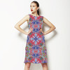 Kaleidoscope Mirrored Multicolored Rorschach Print (Dress)