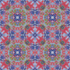 Kaleidoscope Mirrored Multicolored Rorschach Print (Original)