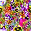 Bright Tropical Summer Floral (Original)