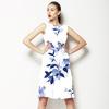 Pale Blue Watercolour Floral (Dress)