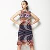 Autums Paint Stripes Zig-Zag Tartan (Dress)