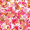 SS17 Graphic Flora Pink Painted Floral Vector (Original)